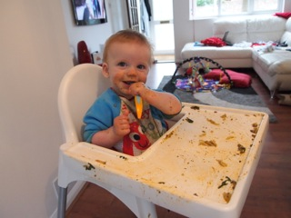 Baby Led Weaning – Six months old and the start of our brilliant, but very very messy, baby led weaning journey.